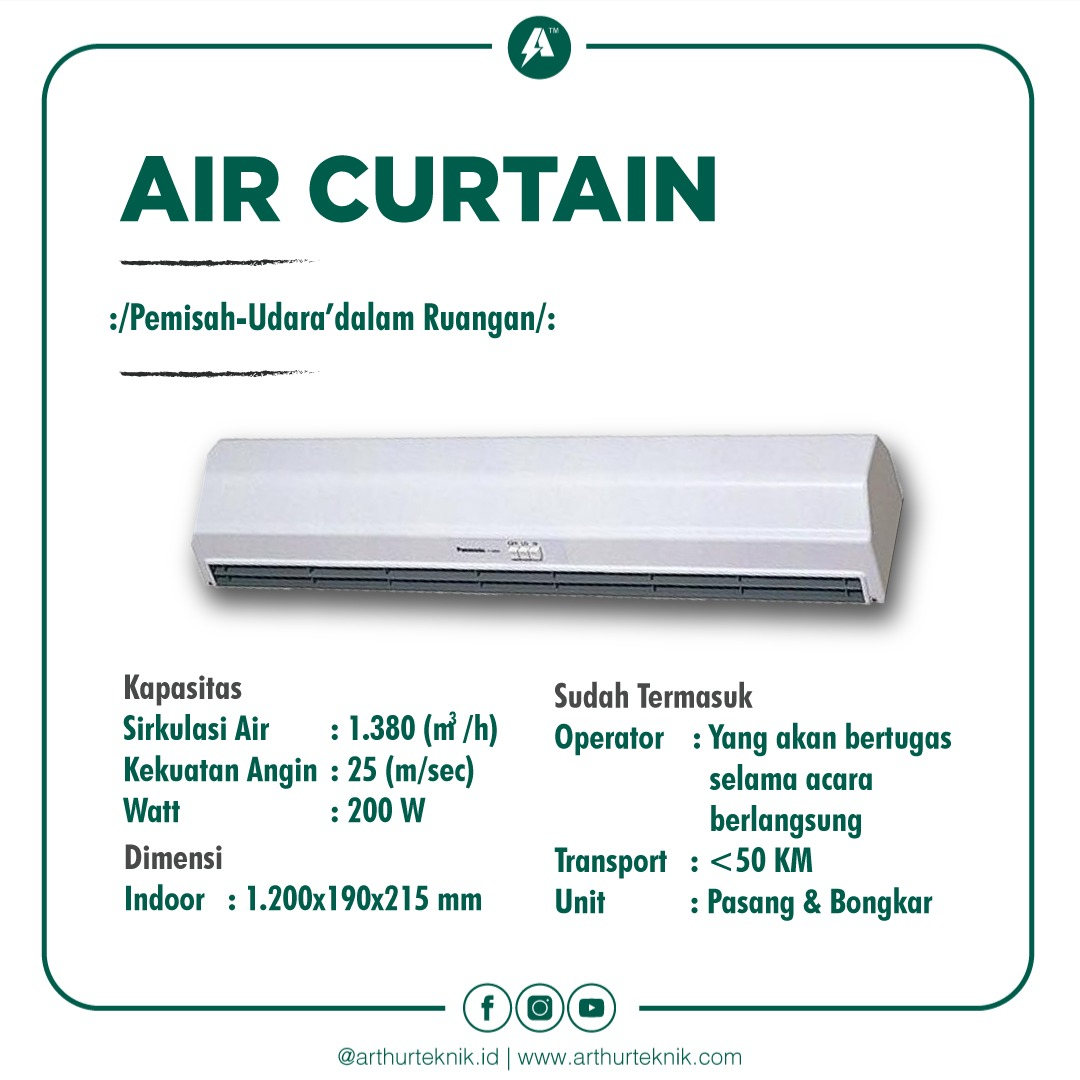 sewa air curtain, rental air curtain, air curtain jakarta