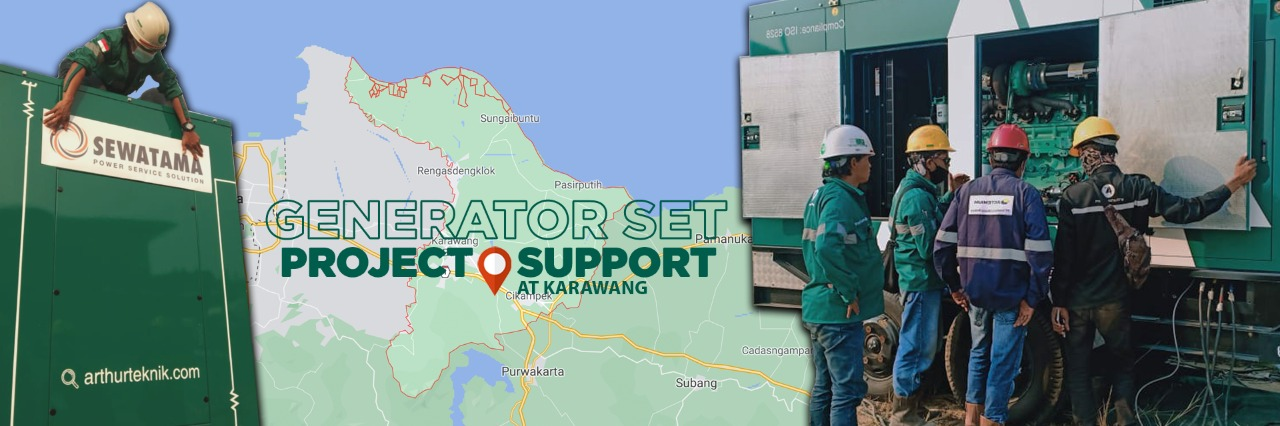 generator set project support at karawang